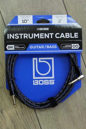 boss instrument cable 3m bic-10a droit coude