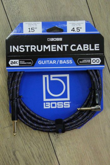 boss instrument cable 4,5m bic-15a droit coude