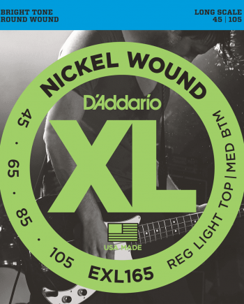 d'addario bass exl165 reg light top med btm 45-105