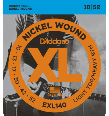 d'addario exl140 light top heavy btm 10-52