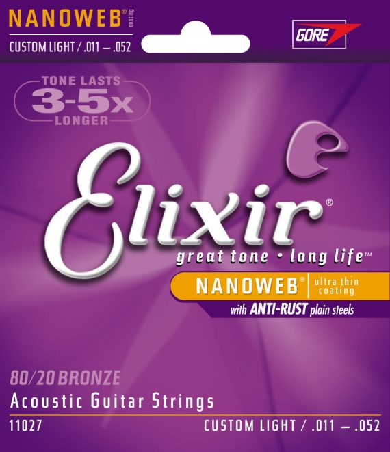 elixir nanoweb 11027 custom light 11-52