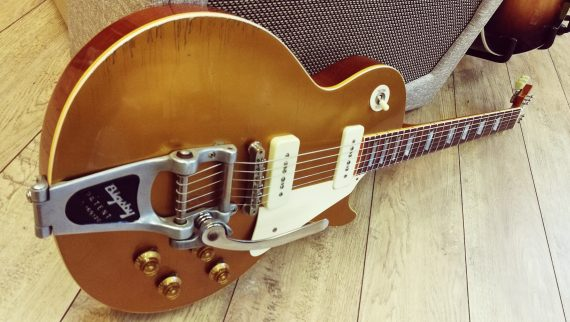 GIBSON LES PAUL 56 GOLD TOP TOM MURPHY AGED FROM 2001